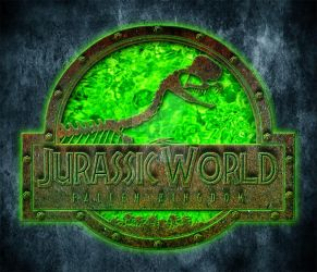 Jurassic World FK Dilophosaurus toxic logo by OniPunisher