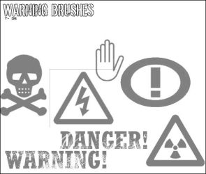 PS Warning Brushes by MilesProwerX