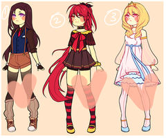 Female Adopts [CLOSED] by pichoomollo