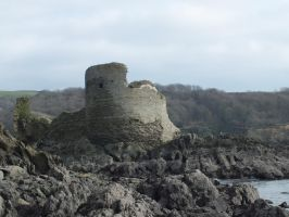North Sands Castle by FluteJazz