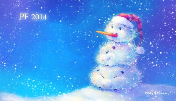 Guinea pig Merry Christmas and happy new year 2014 by Fany001