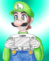 Luigi and his Wii U by LilacPhoenix