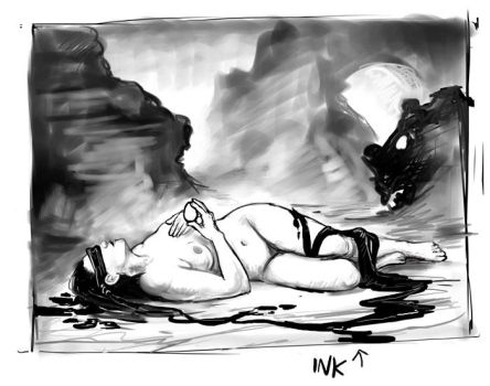 Inkwoman Sketch by ursulav
