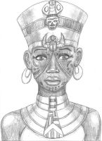 Scar-Faced Egyptian Queen by TyrannoNinja