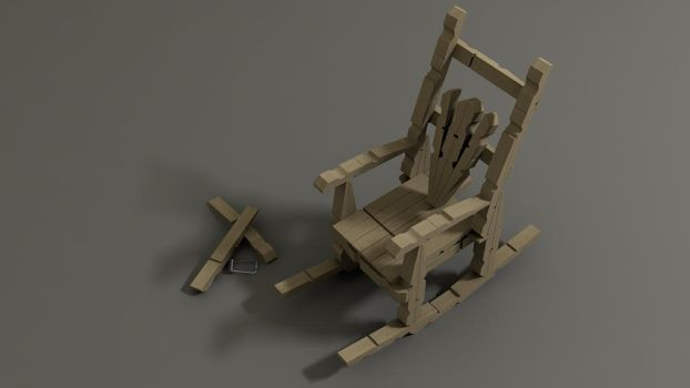 Peg rocking chair by rocneasta