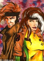 Another Gambit and Rogue by wheels9696