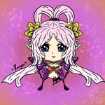 Rayen Chibi Digital Headshot Art Trade by KizunaYui-Studios