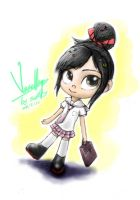 Vanellope with Japanese high school uniform by summilly