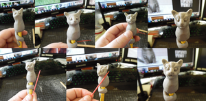 Pencil Pets - Kitty in progress by Ravica