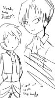 LEVI NEEDS TO BE TALLER by ImElleyTheArtist