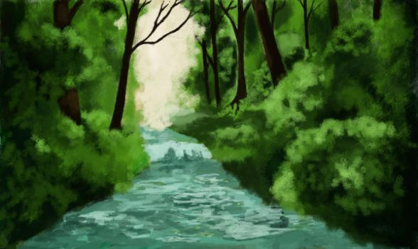 Forest - Painting Practice by buetly