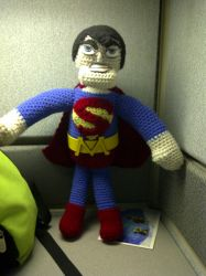 Superman crochet doll by Mindless-Intent