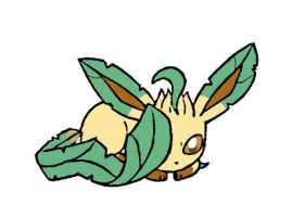 Little Leafeon by sunnyfish