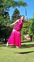 Me walking on a tight rope 05 by KirstenStar