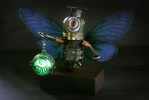 Robot Fairy with lantern by CatherinetteRings