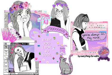 +Foooood -outline girls by everything-for-edits