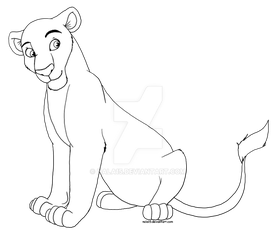 Lioness Adoptables (.png lineart) - 10 POINTS! by Nala15