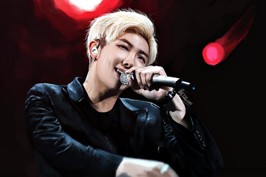On stage: Rap Monster by xCollecx
