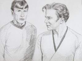 Kirk and Spock by Greencat85