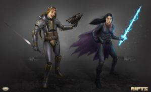 Savage RIFTS characters group 2 by AlMaNeGrA