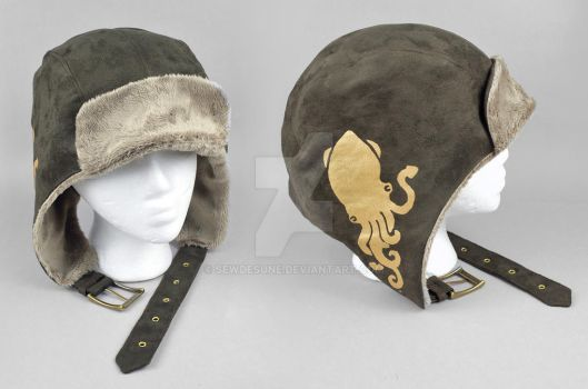 Steampunk Aviator Cap - The Aquanaut by SewDesuNe