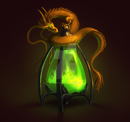 Dragon's Lamp by Enzi-mercurius