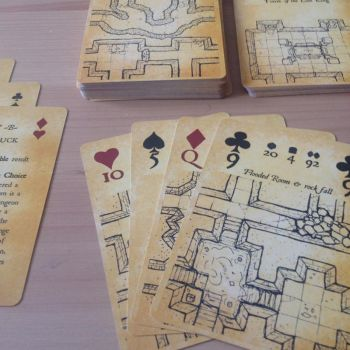 Inked Adventures Map and Dice Playing Cards poker by billiambabble