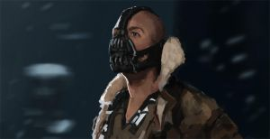 Bane from The Dark Knight Rises study by artificialguy