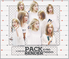 PACK RENDER TAEYEON ( 8 PNG ) by NeilRoy