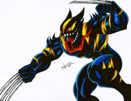 Symbiote Wolverine by MikeES