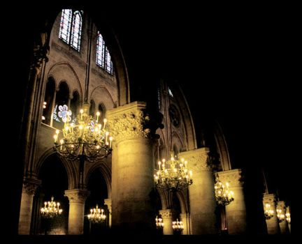 Inside Notre Dame Cathedral by NightShades