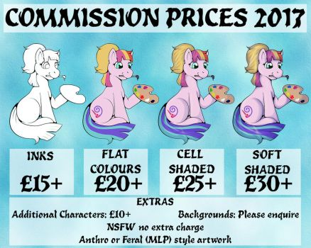 Commission Prices 2017 by fishiewishes