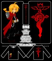 .:FMA- chibi Ed shirt design:. by madmen