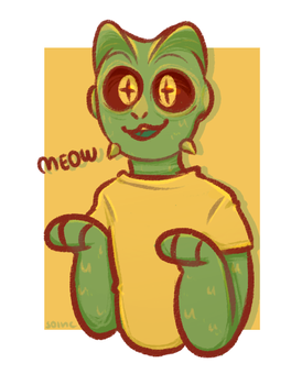 reptilian kitty by Solnc