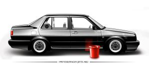 Mk2 Jetta by whiskey-art