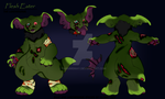 Flesh Eater the Zombie Leathersaur  by Darumemay