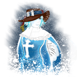 The White Musketeer Snow Bust by CashlinSnow