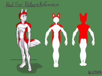 Red Fur Pattern Reference by FlyingRam
