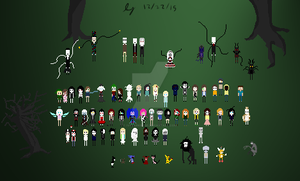 Creepypasta Pixel Super Picture by IvyDarkRose