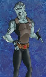 Abe Sapien says Hey yo by Violette-Aner