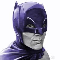 Daily Sketches Adam West's Batman by fedde