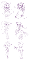 SF: Chibis pt 1 by pianobelt0