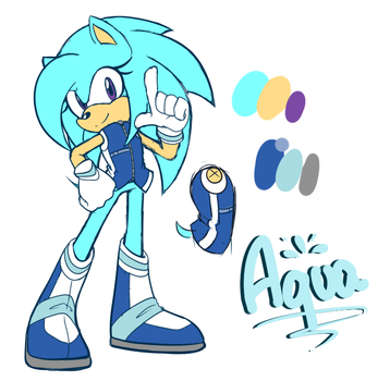 Aqua the Hedgehog Reference by Squeetheidiot