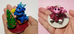 Baby Christmas-Themed 2 inch Sculptures by prismaticpearls