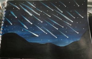 Meteor shower by TaitGallery
