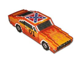 Dukes of Hazzard 3D Beadsprite by DrOctoroc