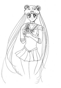 Pure Heart Crystal-Sailor Moon S-Sketch by Edwardalenko