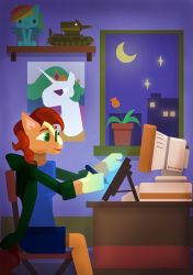 Drawing at Night by ivan-the-pony