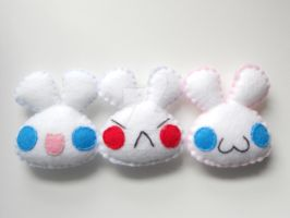 Bunny Magnets by plushie-junkie07