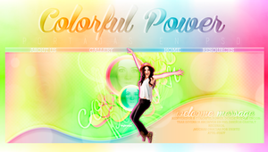 Colorful Power Cover PSD by BitchesImAwesome